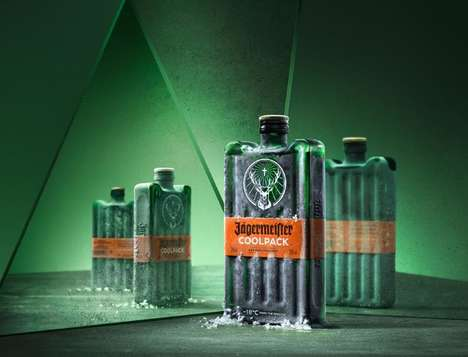 Ice Pack-Inspired Liqueur Packaging