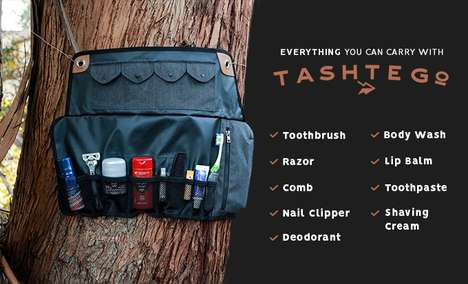 Tool Roll Toiletry Bags