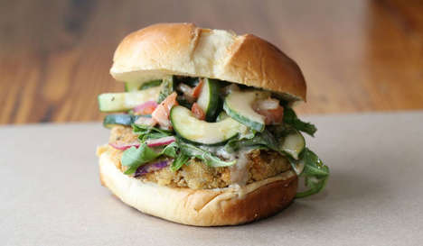 Cucumber Salad-Topped Burgers