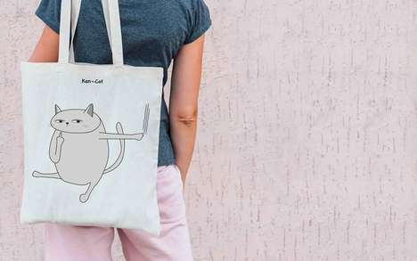 Charitable Cat-Inspired Brands - Ken the Cat Advocates for Animal Safety in a Lighthearted Way