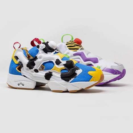 Mismatching Toy-Inspired Sneakers