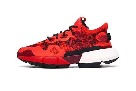 Red Camo Sneaker Colorways