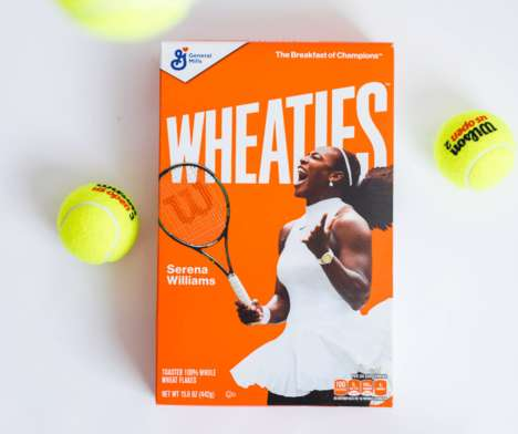 Tennis Star Cereal Boxes