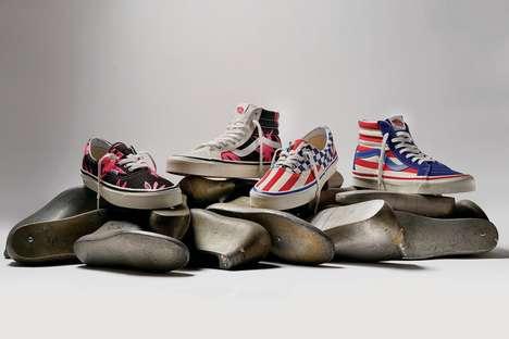 Heritage Print Canvas Sneakers