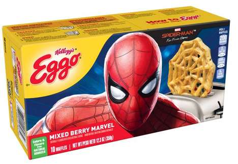 Superhero-Themed Breakfast Waffles