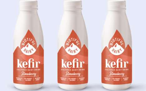 Berry-Flavored Kefir Beverages