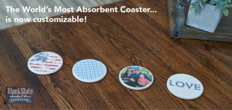 Customizable Ultra-Absorbent Coasters