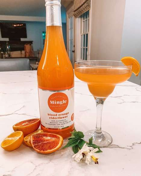 Botanical Blood Orange Mocktails