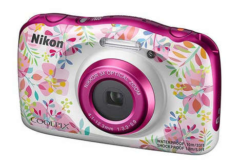 Florally Accented Cameras