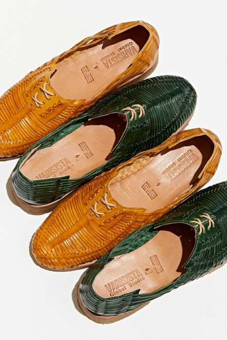 Woven Oxford Dress Shoes