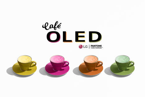 Color-Centric Cafes - LG's Café OLED in New York City Shares Tinted Lattes & Colorful Pastries