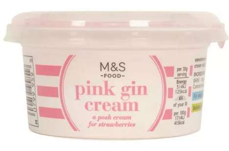Gin-Infused Pink Creams