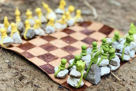 Naturalistic Outdoor Chess Sets