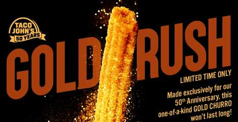 Gold-Dusted Churro Desserts