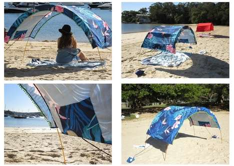 View-Permitting Sun Umbrellas