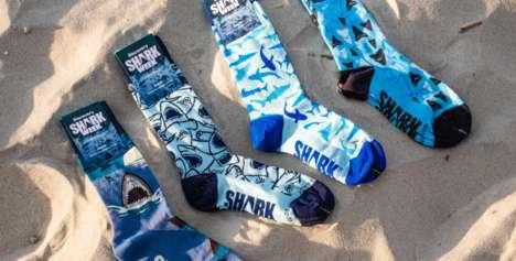 Novelty Shark-Inspired Socks