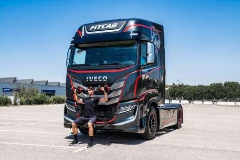 Fitness-Focused Shipping Trucks