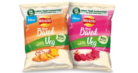 Baked Vegetable-Infused Snack Chips