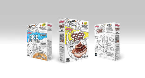 AR Coloring Cereal Boxes