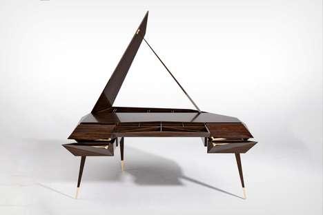 Elegant Piano-Inspired Workstations