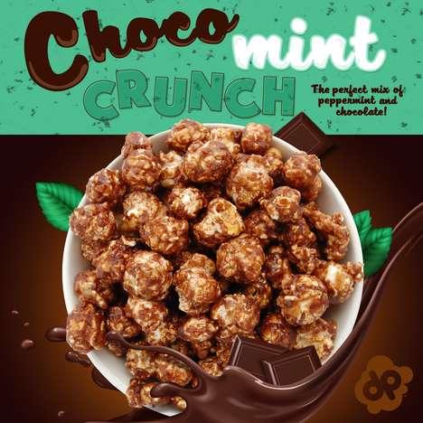 Mint Chocolate Popcorn Snacks