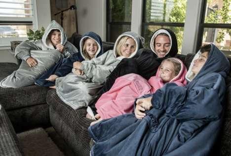 Hooded Micro Fleece Blankets