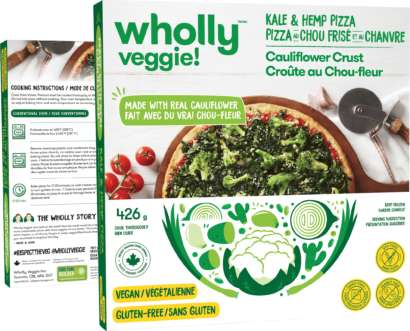 Vegan Cauliflower Crust Pizzas