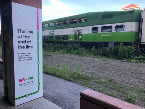 Public Transportation Rideshare Partnerships - Metrolinx and Lyft Launched a Ride-Sharing Initiative