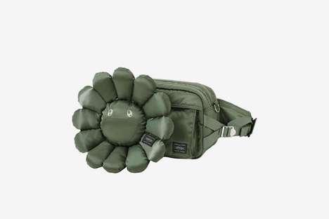 Militaristic Floral Nylon Bags