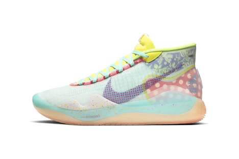 Vibrant Clear Patchwork Sneakers