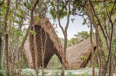 Sustainable Bamboo Meditation Temples