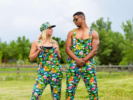 Branded Pajama Overalls