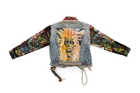 Punk-Graphic Layering Denim Jackets