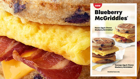 Blueberry-Infused Breakfast Sandwiches