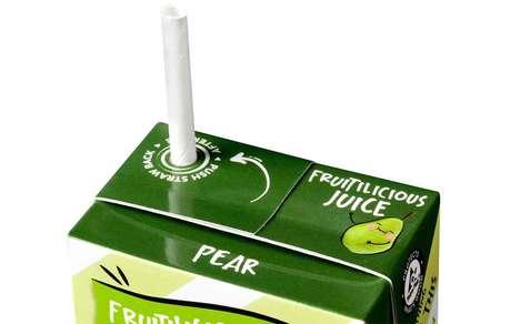 Paper-Made Juice Box Straws