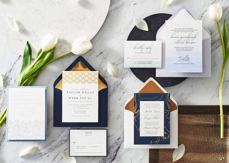 Jewelry-Inspired Wedding Invites