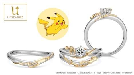 Cartoon-Themed Wedding Rings