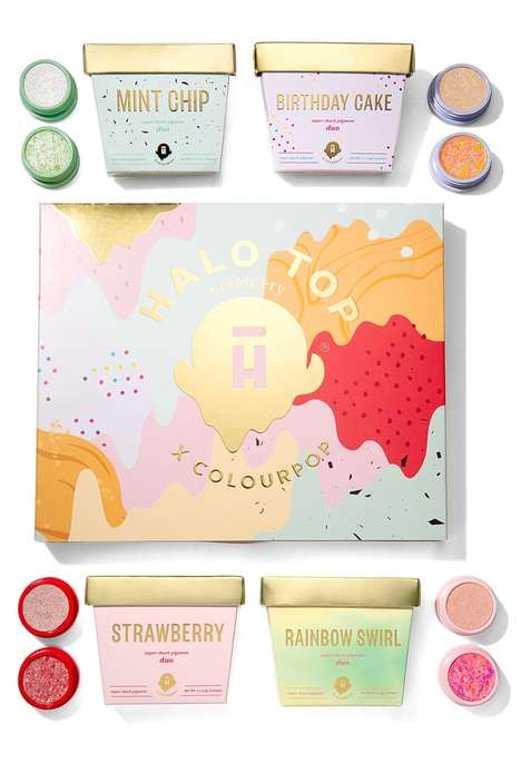 Ice Cream-Inspired Eyeshadows - Halo Top & ColourPop Collaborated on an Ice Cream Makeup Collection