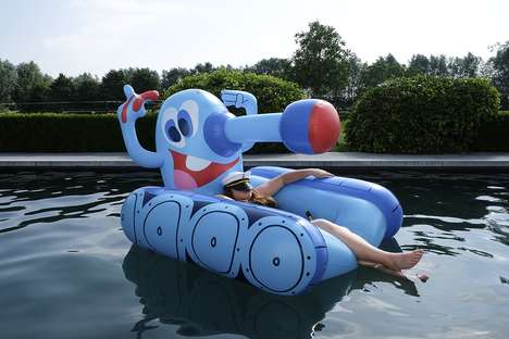 Artisically Informed Pool Floats
