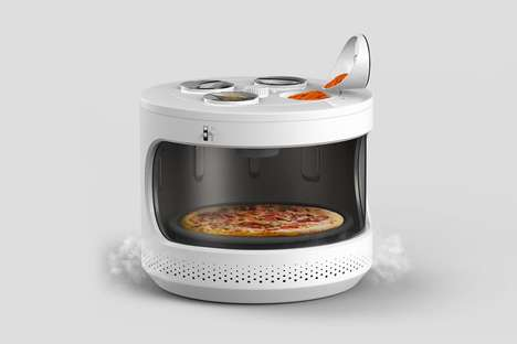 Rounded Condiment-Holding Microwaves