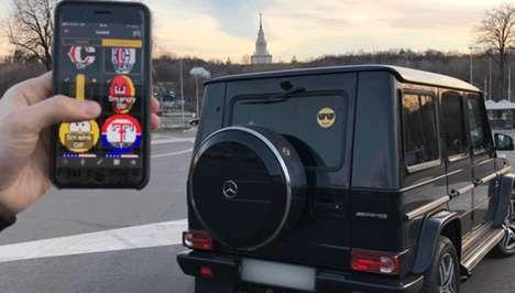 Voice-Controlled Emoji Car Displays