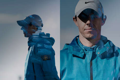 Collaboration Golf-Ready Jackets - The Nike x Stone Island Golf Jacket Has a Water-Resistant Design