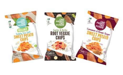 Veggie-Packed Snack Chips - These New One Potato Two Potato Snack Flavors Have an Artisanal Twist