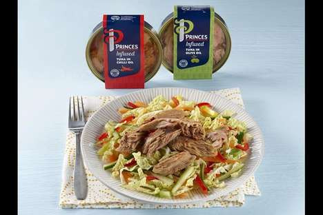 Pre-Flavored Fish Products - These New Princes Prepackaged Fish Products are Convenient