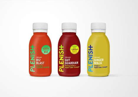Nutrient-Dense Juice Shots - These New Plenish Juice Shots Come in Three Flavors