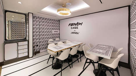Luxury Fashion-Themed Cafes - The Fendi Caffé Opens Its Doors in London Serving Themed Goods