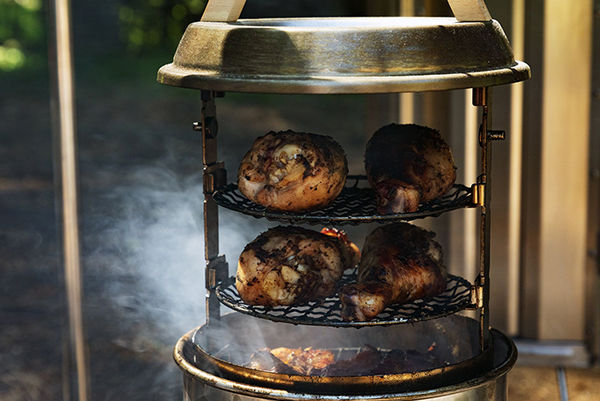 Adjustable Outdoor Camp Smokers - The Snow Peak Smokemeister is Suitable for Any Food or Recipe