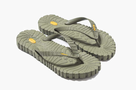 Rugged Tread-Covered Flip-Flops - The Vibram Tropical Carrarmato Sandal Has Enhanced Slip Resistance