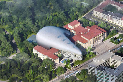 Futuristic Concert Hall Designs - Steven Holl's Zinc-Clad Building is a Future-Forward Addition