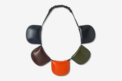 Multi-Pocket Colorful Luxe Headbands - LOEWE's Multi-Pocket Headband is Its Latest Unique Accessory